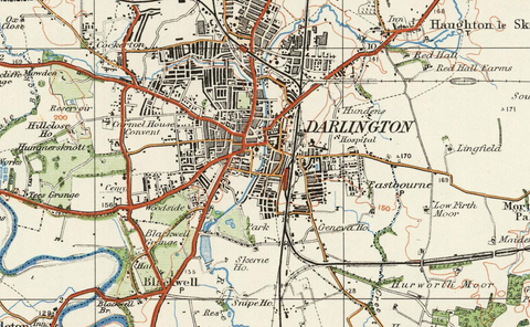 Darlington - Ordnance Survey of England and Wales 1920 Series