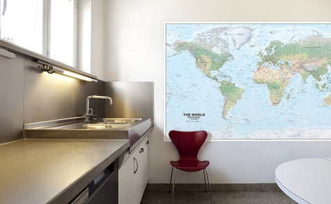 Giant World Map Mounted Display [GM]