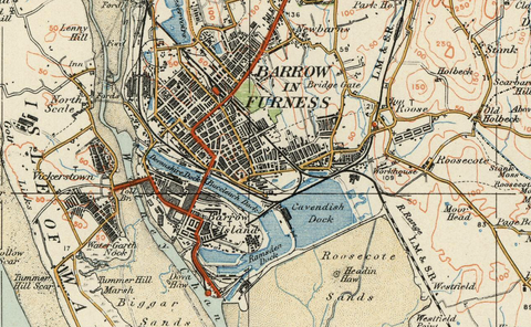 Lancaster & Barrow - Ordnance Survey of England and Wales 1920 Series