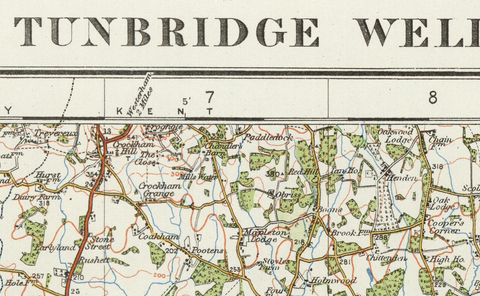 Tunbridge Wells - Ordnance Survey of England and Wales 1920 Series