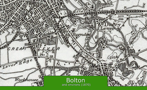 Bolton and Environs Ordnance Survey Map 1870