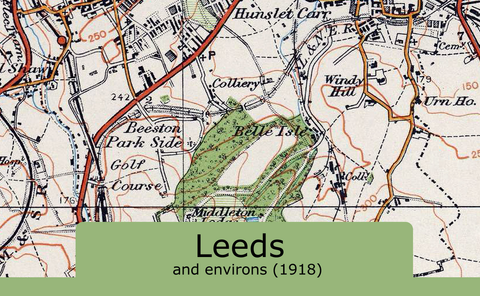 Leeds and Environs Ordnance Survey Map 1920 I Love Maps