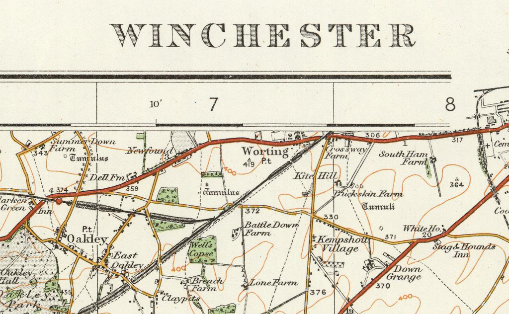Winchester Ordnance Survey Of England And Wales 1920 Series I