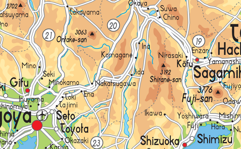 Japan Physical Map · Japan Physical Map ...