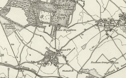 Fakenham (Wells next to the Sea) OS Map