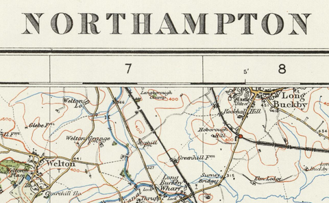 Northhampton - Ordnance Survey of England and Wales 1920 Series