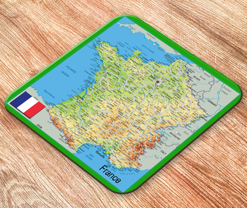France Map Placemat