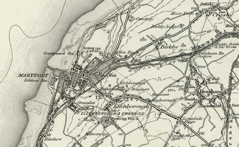 Maryport (Silloth) OS Map