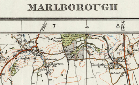 Marlborough - Ordnance Survey of England and Wales 1920 Series
