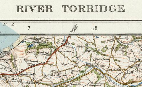 River Torridge - Ordnance Survey of England and Wales 1920 Series