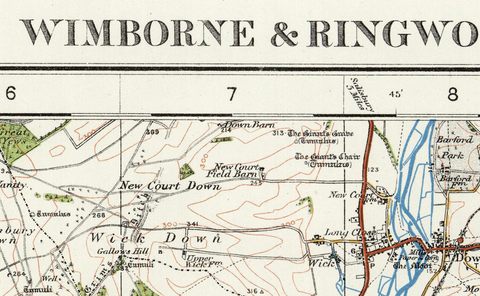 Wimborne & Ringwood - Ordnance Survey of England and Wales 1920 Series