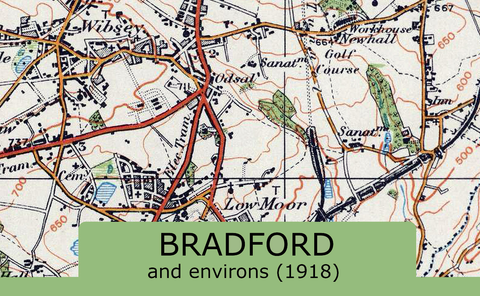 Bradford and Environs Ordnance Survey Map 1920