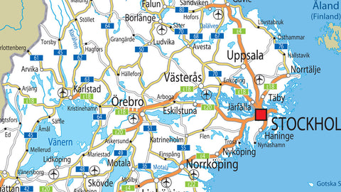 Sweden Road Map
