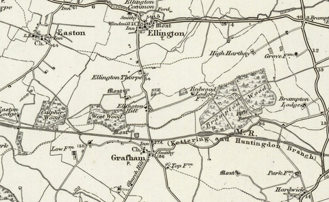 Huntingdon (Ramsey) OS Map