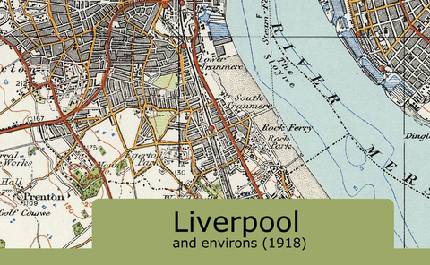 Liverpool and Environs Ordnance Survey Map 1920 I Love Maps
