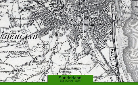Sunderland and Environs Ordnance Survey Map 1870