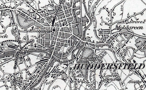 Huddersfield and Environs Ordnance Survey Map 1870