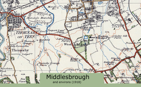 Middlesborough and Environs Ordnance Survey Map 1920