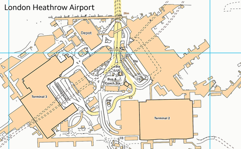 Heathrow Airport Street Map
