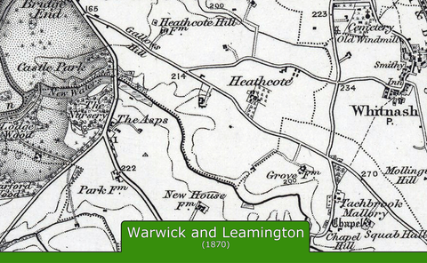 Warwick and Environs Ordnance Survey Map 1870