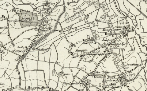 Yeovil (Glastonbury) OS Map
