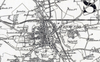 Bury St Edmunds and Environs Ordnance Survey Map 1870