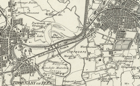Middlesbrough and Environs Ordnance Survey Map 1870