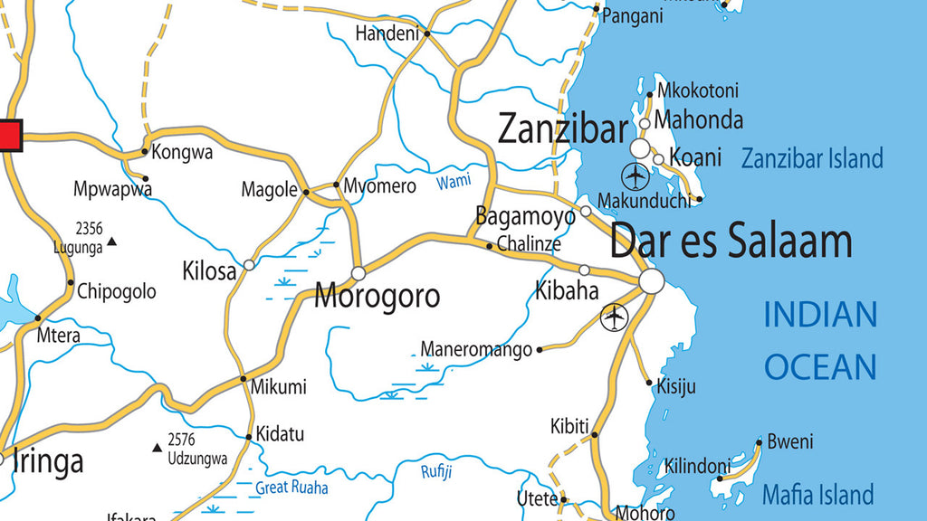 Tanzania Road Map I Love Maps