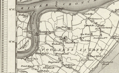 Foulness (Brightlingsea) OS Map