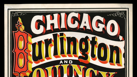 Chicago to Qunicy Railroad Poster