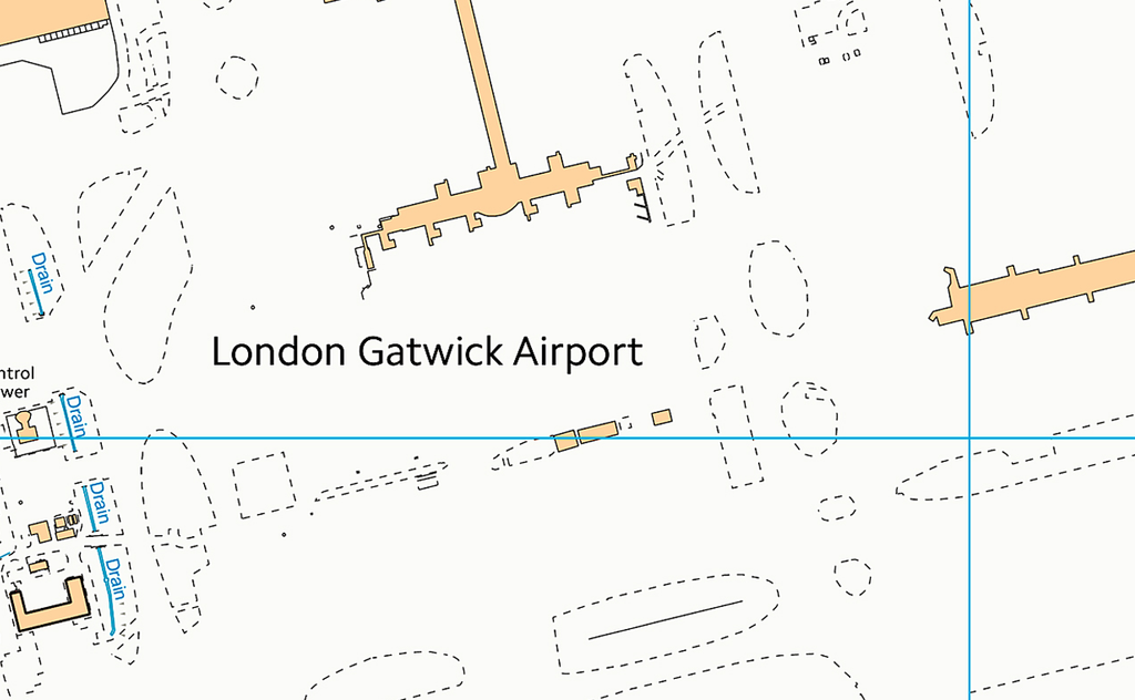 Crawley and Gatwick Airport Street Map I Love Maps