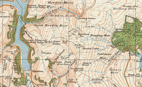 Barnsley Sheffield Ordnance Survey of England and Wales 1920