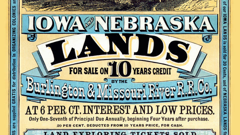 Iowa & Nebraska - Land for Sale Poster