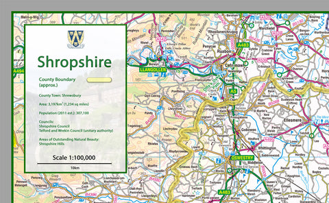 Shropshire County Map