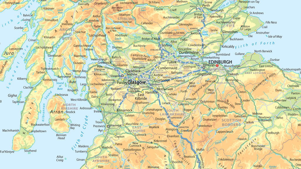 United Kingdom Of Great Britain And Northern Ireland Map A Size - Northern ireland map