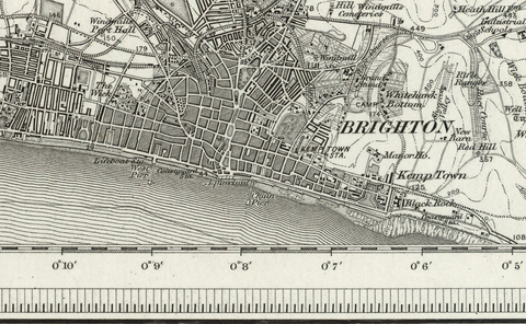 Brighton (Horsham) OS Map