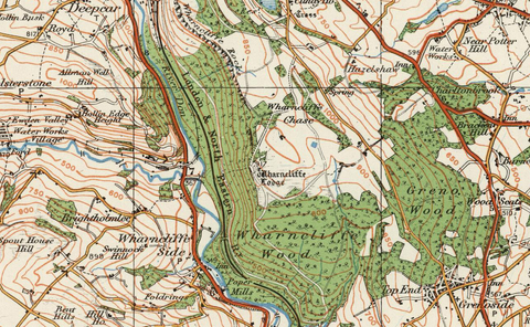 Barnsley & Sheffield - Ordnance Survey of England and Wales 1920 Series