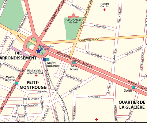 Paris Street Map - Central Paris