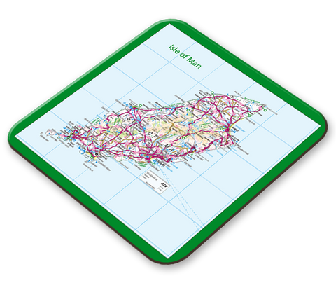 Isle of Man Map Placemat