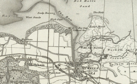 Wells next to the Sea OS Map