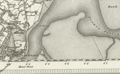 Beaumaris 1890 OS Map