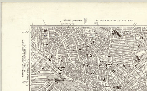 1920 Map of Central London - Ordnance Survey 1:10,560 Scale