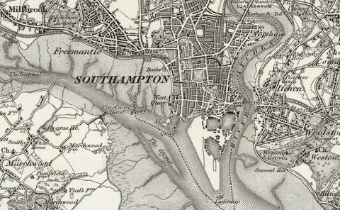 Southhampton (Winchester) OS Map