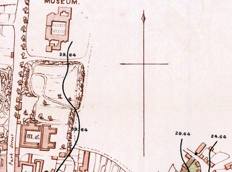 Acland Map of Oxford Cholera