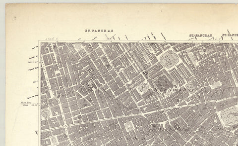 1872 Map of South London - Ordnance Survey 1:10,560 Scale