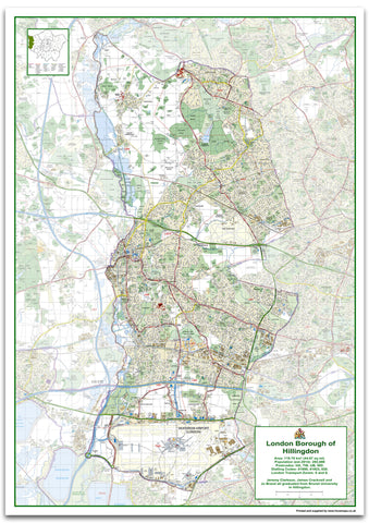 Hillingdon London Borough Map