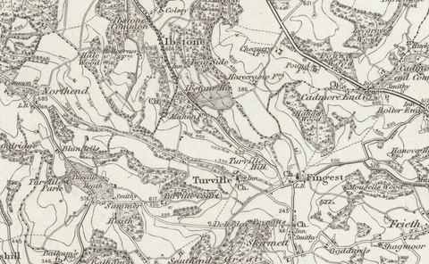 Beaconsfield (Aylesbury) 1890 OS Map