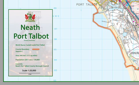 Neath Port Talbot County Map