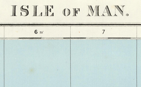 Isle of Man - Ordnance Survey of England and Wales 1920 Series