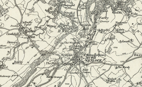 Shrewsbury OS Map